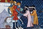 Crusaders on their way towards Jerusalem