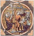 Crusaders massacring Jews in Germany
