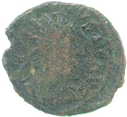 Billon antoninianus of Tetricus I, obverse showing radiate bust of Tetricus right