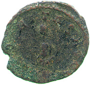 Billon antoninianus of Tetricus II, reverse showing Securitas leaning left on column
