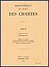 Cover of Bibliothèque de l'École des Chartes 155