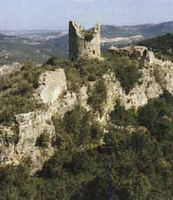 Ruins of the castle of Pinyana, once property of Vicar Sendred de Gurb