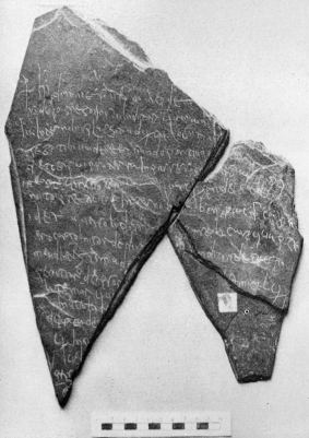 Visigothic charter of sale from 632, on slate