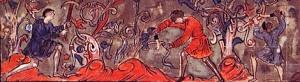 Medieval peasants at work