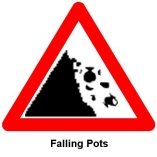 falling pots! by Mary Chester-Kadwell