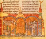 Pope Urban II celebrating mass at his old monastery of Cluny