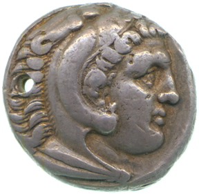 CM.G.16-R, tetradrachm of Alexander the Great from Macedonia, obverse, copyright Fitzwilliam Museum