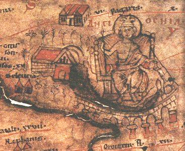 A depiction of Antioch as Queen of the East from the Peutinger map