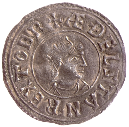 A silver penny of Athelstan naming him as King of All Britain, from the London mint
