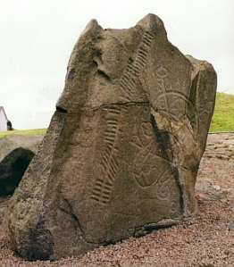 The ogam-inscribed symbol stone at Brands