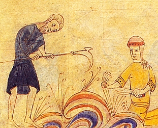 Catalan peasants at work, from the Biblia de Ripoll
