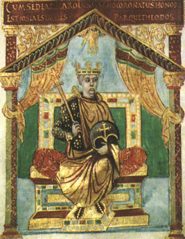 King Charles the Bald of the West Franks in old age