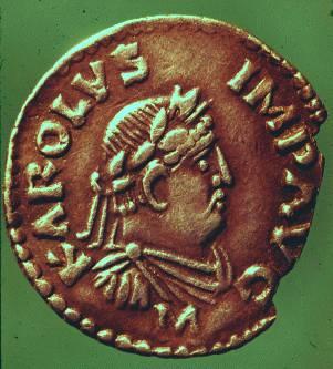Portrait denier of Charlemagne