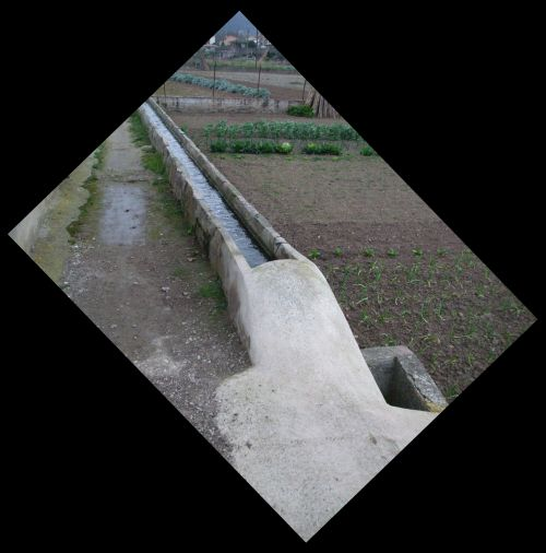 The irrigation channels in the Horts de Besalú