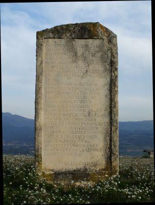 The memorial to the founders of Sant Andreu de Tona on the Turó del Castell de Tona