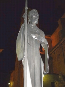 Statue of Bishop Oliba of Vic in the Plaça de la Catedral de Vic