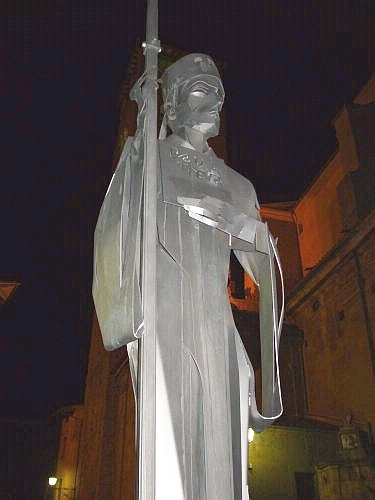 Statue of Bishop Oliba of Vic in the Plaça de la Catedral
