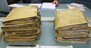 The volumes of Calaixs 6 & 9 of the Arxiu Episcopal de Vic