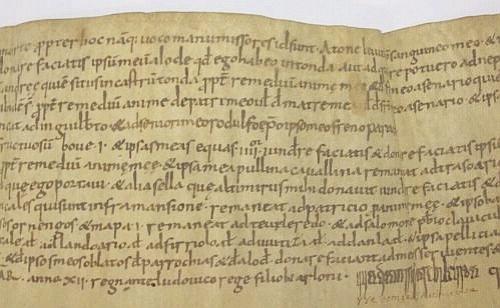 Close-up of Arxiu Capitular de Vic, calaix 9, episc. I, núm 50