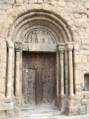Portal of the church of Sant Pol, in Sant Joan de les Abadesses