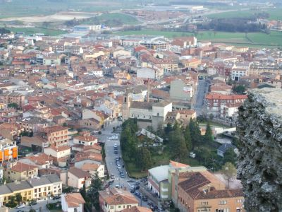 View of the town of Tona from the Turó del Castell