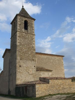 The church of Sant Cristòfol de Vespella