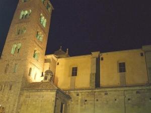 Catedral de Sant Pere de Vic by floodlight