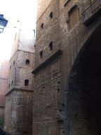 The Roman walls and medieval towers of Barcelona