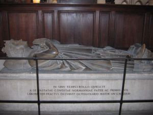 The tomb of Duke Rollo of Normandy in Rouen cathedral
