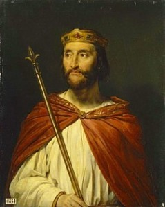 A Romantic depiction of Charles the Simple borrowed from Wikipedia