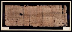 Confirmation of the privileges of the Abbey of St-Denis by King Clovis II, 22 June 653, on original papyrus