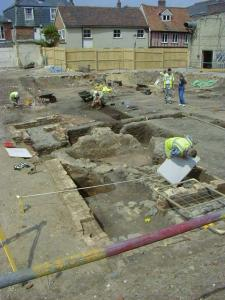 Archaeological diggers at work in Wales
