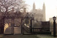 Clare College Cambridge in fog
