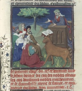(Late) medieval depiction of Mohammed preaching