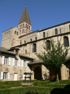 The cloister of St-Philibert de Tournus