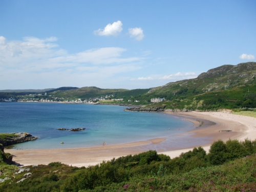 Strath Bay and the town of Gairloch