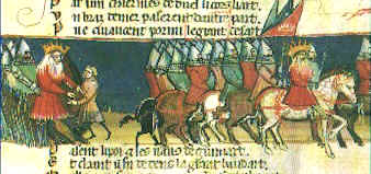 The Carolingian host on the march (though not on the March)