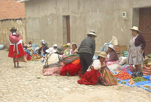 The barter market at Tapacarí; photo by Emma Felber