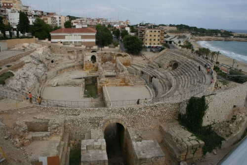 The Roman theatre at Tarragona in its ruins
