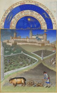 The illumination for March from the Très Riches Heures du Duc de Berry, taken from Wikimedia Commons and depicting the Château de Lusignan