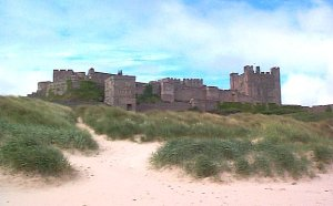 The castle on Bamburgh Rock, one place where we can be pretty sure there was an Anglo-Saxon fortification
