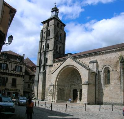 The abbey of Saint-Pierre de Beaulieu-sur-Dordogne
