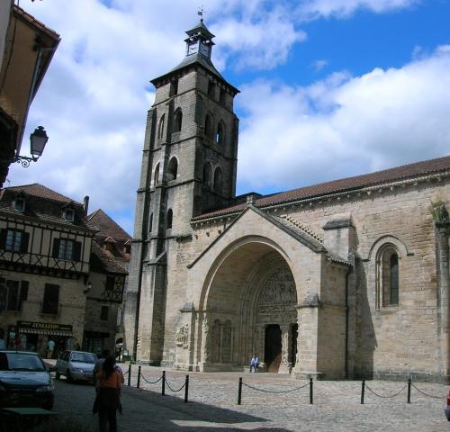 The abbey of Saint-Pierre de Beaulieu-sur-Dordogne
