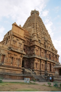 Front right of the Brihadeshwara Temple, from Wikimedia Commons