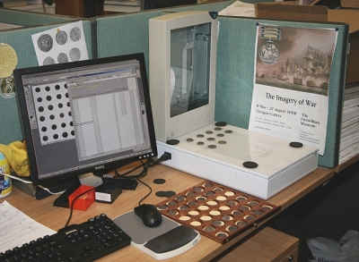 The main documentation station in Coins & Medals