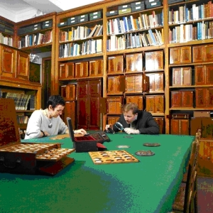 The McClean Room, Department of Coins & Medals, in use for study