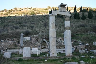 The restored Prytaneion at Ephesus