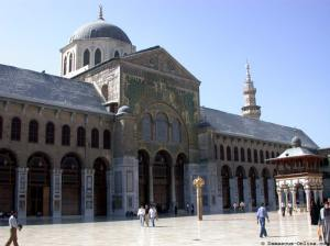 The Umayyad mosque in Damascus, originally a church