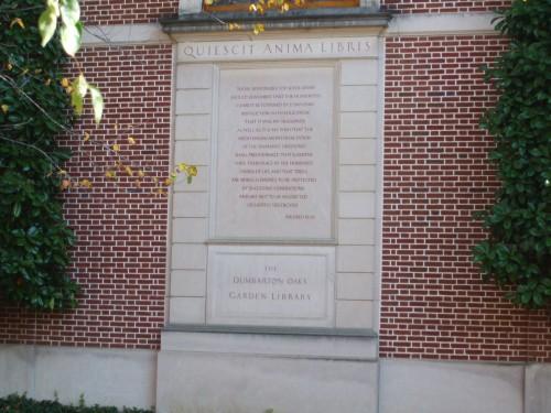 The <em>outside</em> of the Dumbarton Oaks Museum