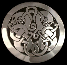 Brooch based on Ringerike-style stone carving from Götland